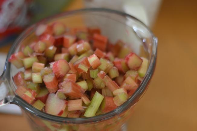 Rhubarb is chopped!
