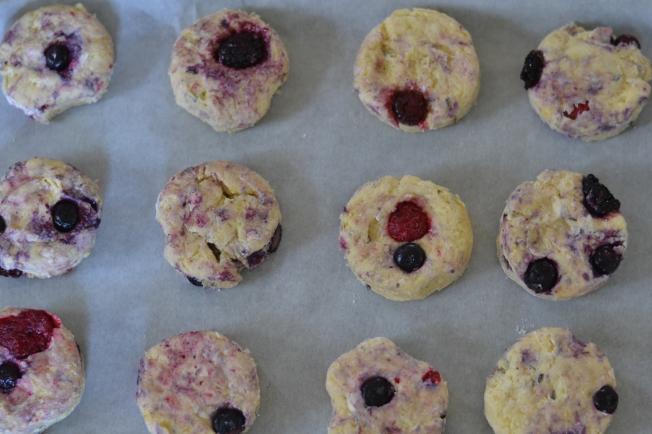 Prebaked Lavender Berry Scones