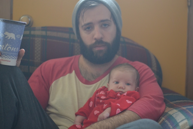Daddy and Briar.  Did I mention he grew a beard?